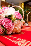 Bouquet and card Royalty Free Stock Photo