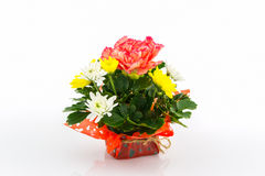 Bouquet carnation and chrysanthemum flowe. Royalty Free Stock Images