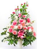 Bouquet of carnation lily and Gerbera. Bouquet of car6nation lily and Gerbera in a vase Stock Photography