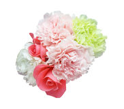 Bouquet of carnation and rose Stock Photos