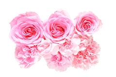 Bouquet of carnation and rose Stock Images