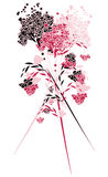 Bouquet of carnations. Beautiful garden flowers. A background for a card Stock Photos