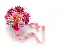 Bouquet of carnations Royalty Free Stock Image