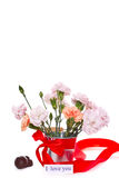 Bouquet of carnations in a vase Royalty Free Stock Photo