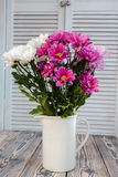 Bouquet of carnations in a vase in the style of Provence Stock Photos