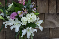 Bouquet with Casablanca lilies Royalty Free Stock Image