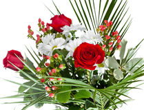 Bouquet with chamomiles and roses Royalty Free Stock Photos