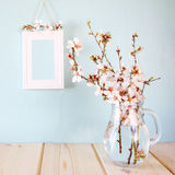 Bouquet of cherry tree branches. Royalty Free Stock Images