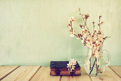 Bouquet of cherry tree branches. Royalty Free Stock Image