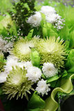 Bouquet from chrysanthemums Royalty Free Stock Image