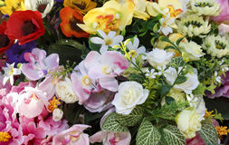 Bouquet or cluster of colorful spring flowers Stock Image