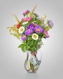 Bouquet coloré d'asters dans le vase photos libres de droits