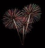Bouquet coloré de feux d'artifice Images stock