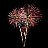 Bouquet coloré de feux d'artifice Image libre de droits