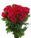 Bouquet coloré de fleur des roses rouges d'isolement sur le backgro blanc Photo stock