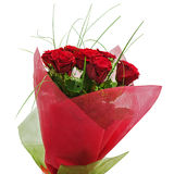 Bouquet coloré de fleur des roses rouges d'isolement sur le backgro blanc Photographie stock libre de droits