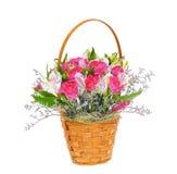 Bouquet coloré de fleurs d'isolement sur le blanc Photos stock
