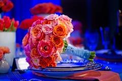 Bouquet coloré de mariage photo libre de droits