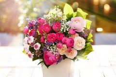 Bouquet coloré de source Image stock