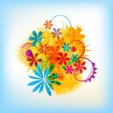 Bouquet coloré floral illustration stock