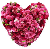 Bouquet of color roses in heart shape Stock Photo