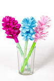 Bouquet of colored paper flowers Stock Photo