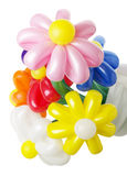 Bouquet with colorful balloon flowers on white background Stock Photography