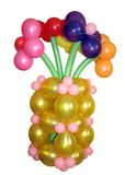 A bouquet of colorful balloons. Stock Image