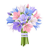Bouquet of colorful bluebell flowers. Vector illustration. Royalty Free Stock Photo