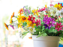 Bouquet of colorful fabric flower Royalty Free Stock Photos