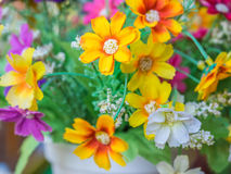 Bouquet of colorful fabric flower Royalty Free Stock Photo