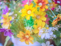 Bouquet of colorful fabric flower Stock Photo