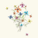Bouquet of colorful flowers Royalty Free Stock Images