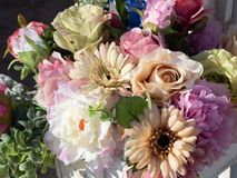 Bouquet of colorful flowers. A arrangement with beautifoul colorful flowers stock image