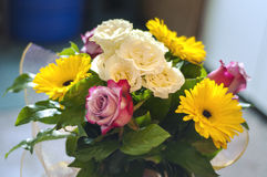 Bouquet of colorful flowers. Close-up Royalty Free Stock Images