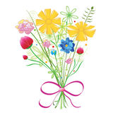 Bouquet of colorful flowers. Royalty Free Stock Images