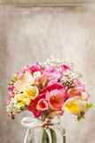 Bouquet of colorful freesia flowers Stock Image