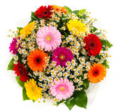 Bouquet of colorful gerberas and daisies Stock Photo