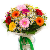 Bouquet of colorful gerberas and daisies Stock Images