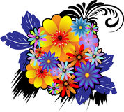 Bouquet of colorful ornamental flowers Royalty Free Stock Photography