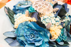 Bouquet of colorful paper flowers Royalty Free Stock Images