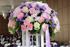 Bouquet of colorful real flowers decoration Royalty Free Stock Image