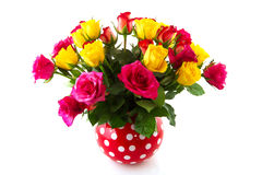 Bouquet colorful roses Royalty Free Stock Images