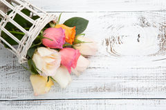 Bouquet of colorful roses Royalty Free Stock Photos