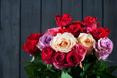 Bouquet of colorful roses Royalty Free Stock Photo