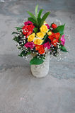 Bouquet of colorful roses Stock Images