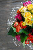 Bouquet of colorful roses Royalty Free Stock Image