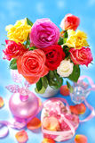 Bouquet of colorful roses Stock Photography