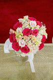 Bouquet of colorful roses Stock Photos