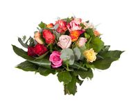 Bouquet of colorful roses. stock images
